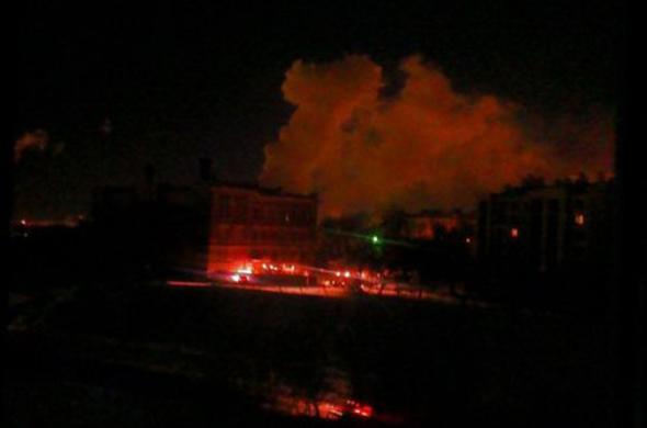 В Казани загорелось здание Шамовской больницы