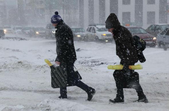 В Казани вновь ухудшилась погода: сильный ветер и метель
