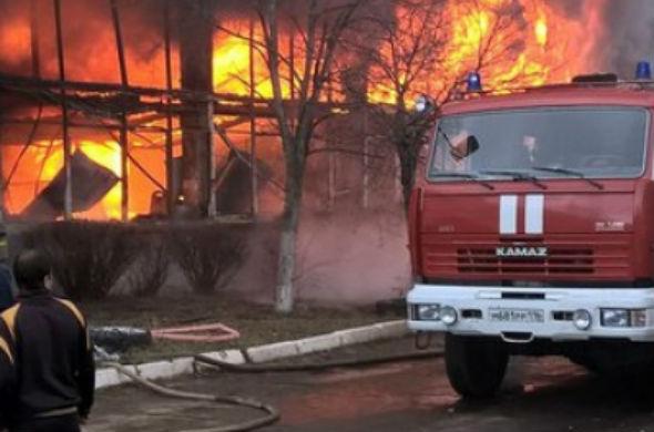 В Чистополе произошел большой пожар: горел инновационный технопарк