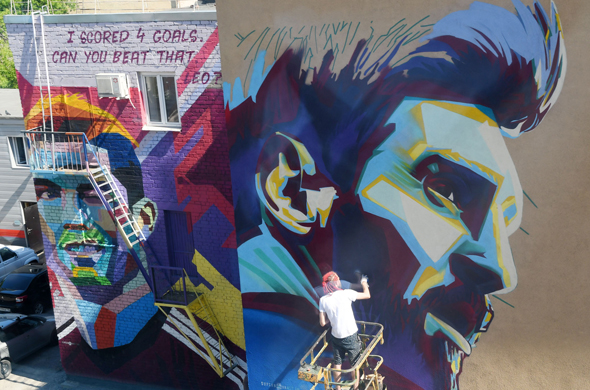 Казань готовится к встречи с Месси : появилось новое граффити