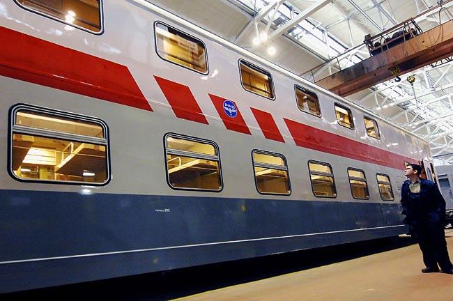 Двухэтажные вагоны в Казани