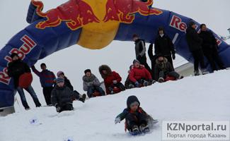 Соревнования на ледянках