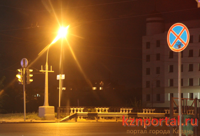 Новая система освещения улиц в Казани