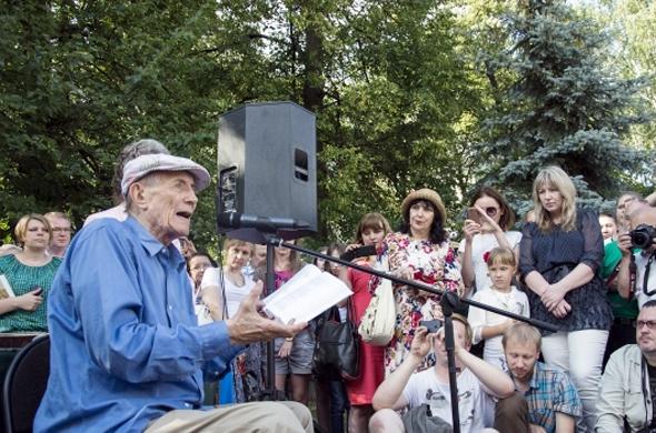 Евгений Евтушенко выступил на казанском «Литературном дворике»