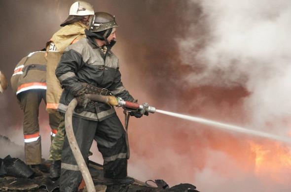 Один из пивных баров загорелся в Казани